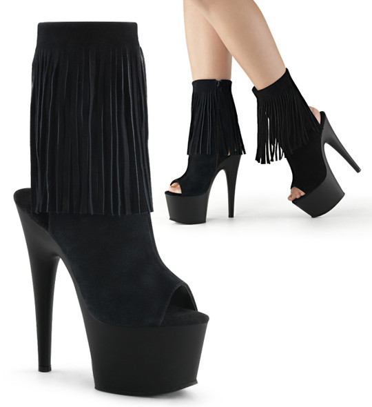 Adore-1019 by Pleaser USA black suede