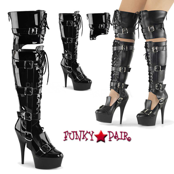 Pleaser | Delight-3068, Over the Knee Boots