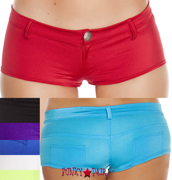 SH3227-Booty Short with Pockets