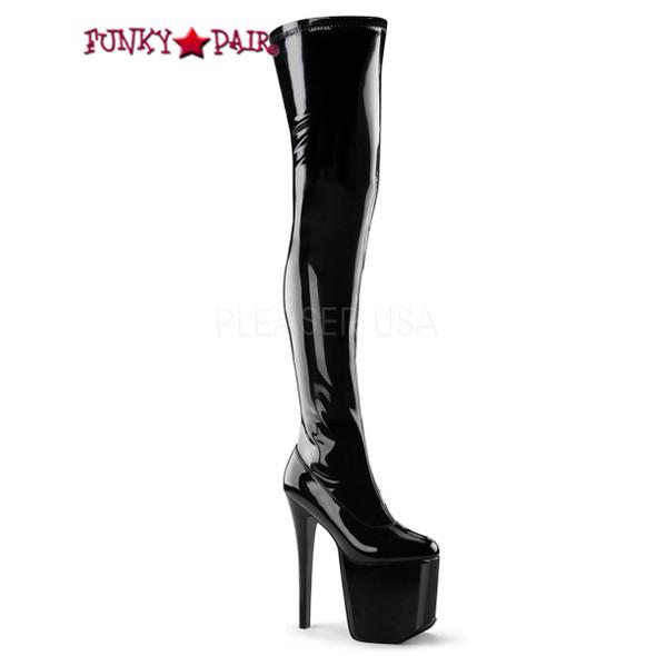 Tramp-3000, 7.5 Inch Stiletto Heel Thigh High Boots