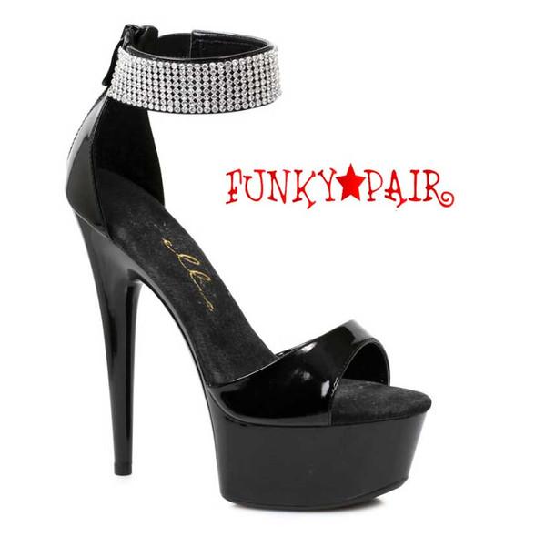 "Ellie Shoes | 609-Haven 6"" Rhinestones Ankle Cuff Sandal"