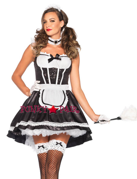 3PC Fiona Featherduster Maid Costume