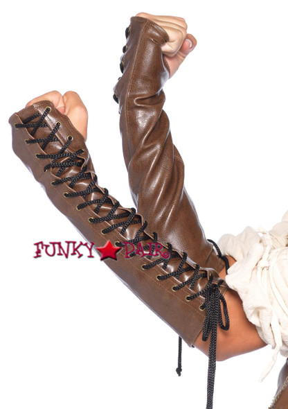LA3742, Faiux Leather Arm Warmer