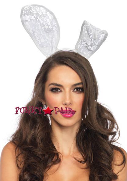 LA3753, White Lace Bunny Ear