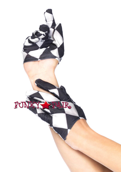 LA3740, Harlequin Mini Cropped Gloves