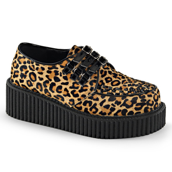 Demonia | Creeper-112, Leopard Print creeper