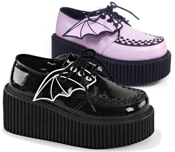 Creeper-205, 3 inch Platform Creeper with Bat Wings