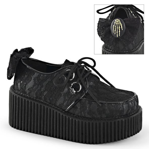 Creeper-212, Platform Lace Creeper Demonia Shoes