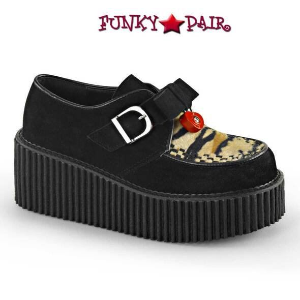 Demonia | Creeper-213, Platform Heart Padlock Creeper