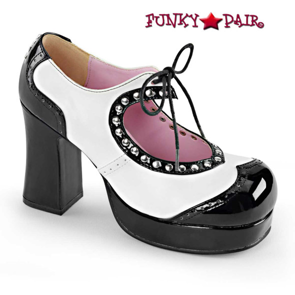 Demonia Shoes | Gothika-10, Chunky Heel Platform Oxford