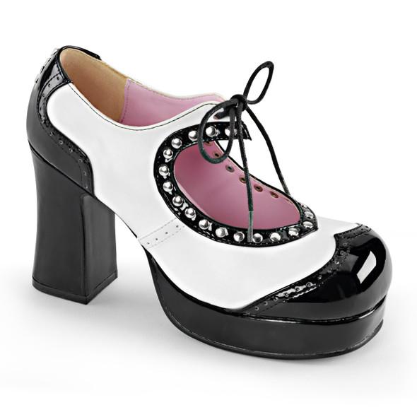 Chunky Heel Platform Oxford Women's Demonia   Gothika-10