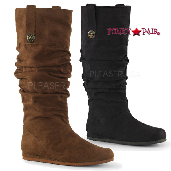 Funtasma | Renaissance-104, Pull On Mid Calf Renaissance Boot