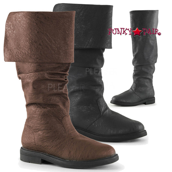Robinhood-100, 1 inch Cuff Knee High Boot | Funtasma
