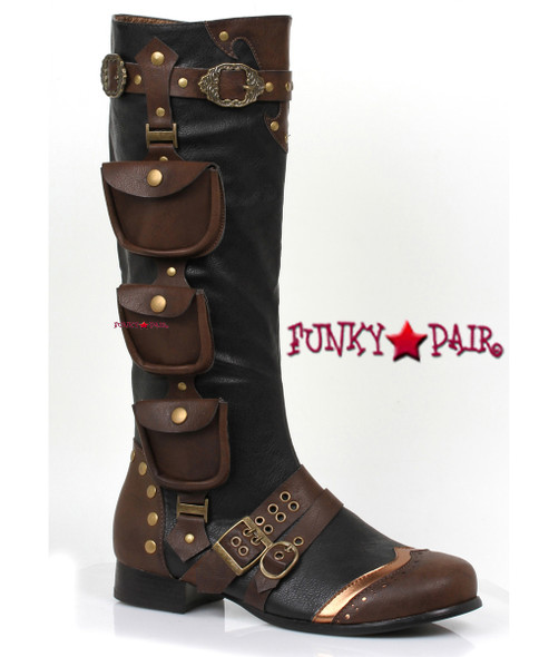121-Amos, Men's Steampunk Boots,COSTUME BOOTS