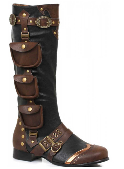 Men's Steampunk Costume Boots 121-Amos
