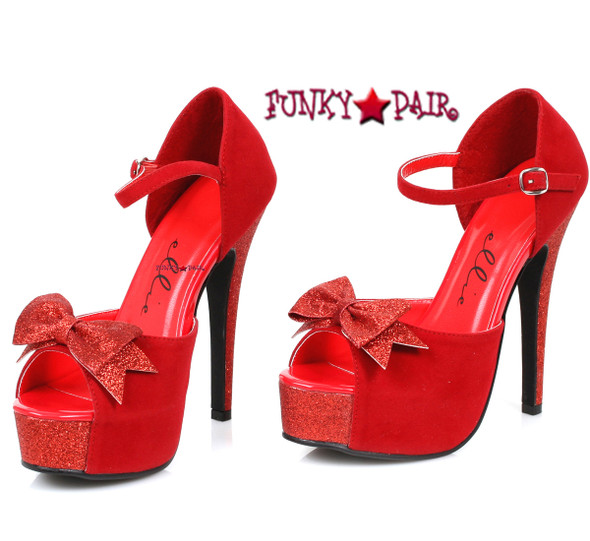 1031 Costume Shoes 519-Story, 5 Inch Red Cosplay Sandal