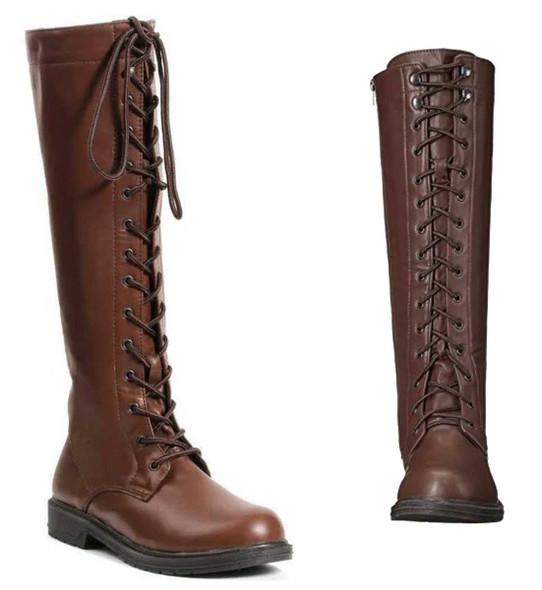 Women's Brown Cosplay Knee High Boots   151-Karina 1031