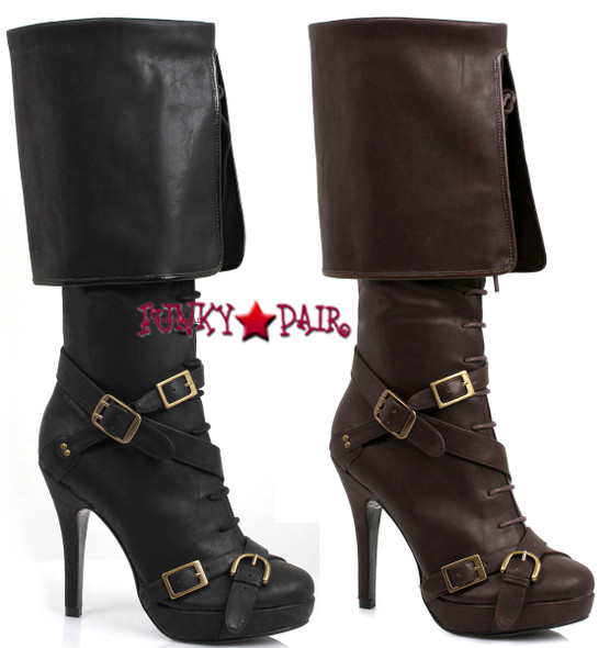 Ellie | 414-Keira, Women's Pirate Boots With Buckles