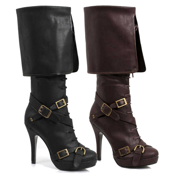 Women's Pirate Boots With Buckles | Ellie 414-Keira,