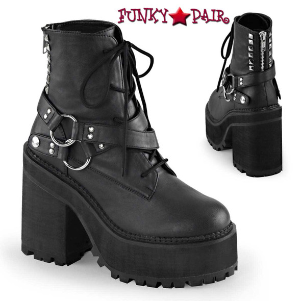 Demonia Assault-101, Ankle Boot with D-rings