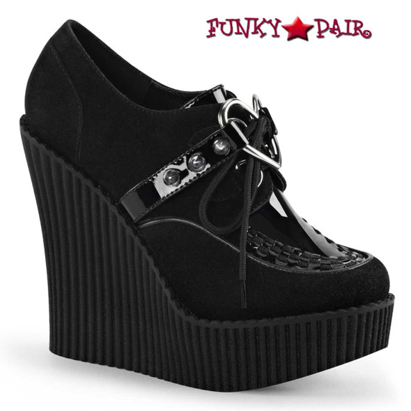 Demonia Shoes | Creeper-302H, Wedge Platform Creeper