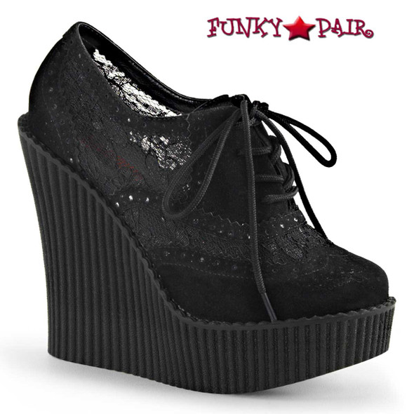 Demonia Creeper-307, Wedge Platform Brogue Creeper