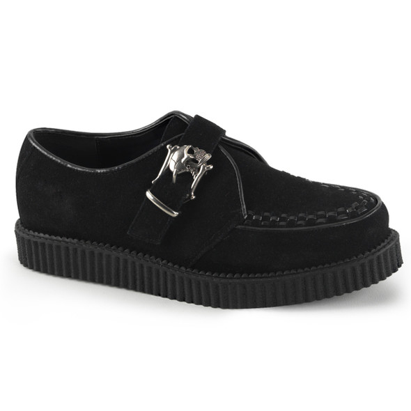 Creeper-605, 1 inch platform Monk Creeper Demonia Shoes