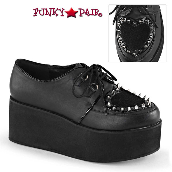 Women's Demonia | Grip-02, Goth Spikes Maryjane Shoes
