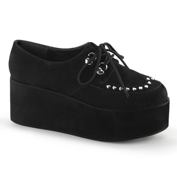 Grip-03, Heart Shape Stud Mary jane Gothic Demonia Shoes