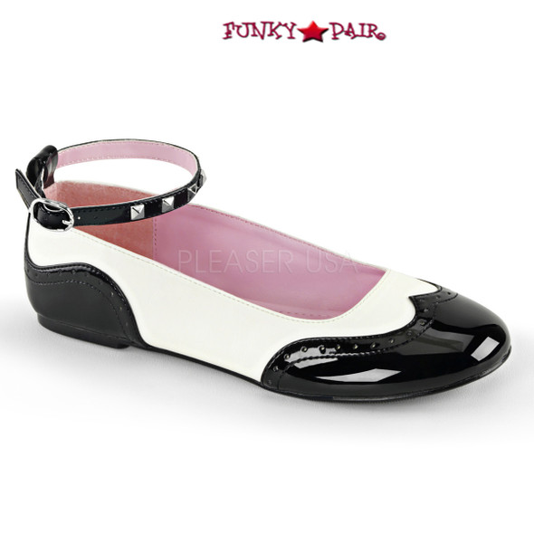 Demonia | Star-22, Round Toe Saddle Flat