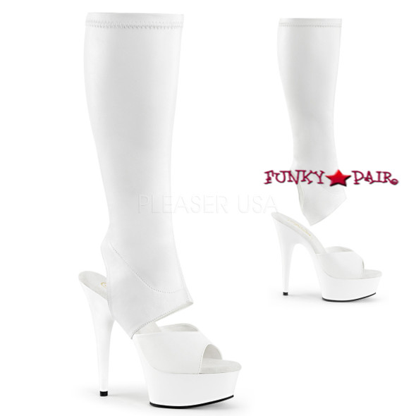 Pleaser | Delight-2022 Knee High Boots with Detachable Shaft