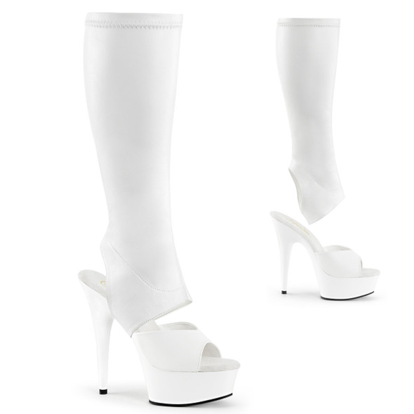 Delight-2022 Knee High Boots with Detachable Shaft Pleaser USA