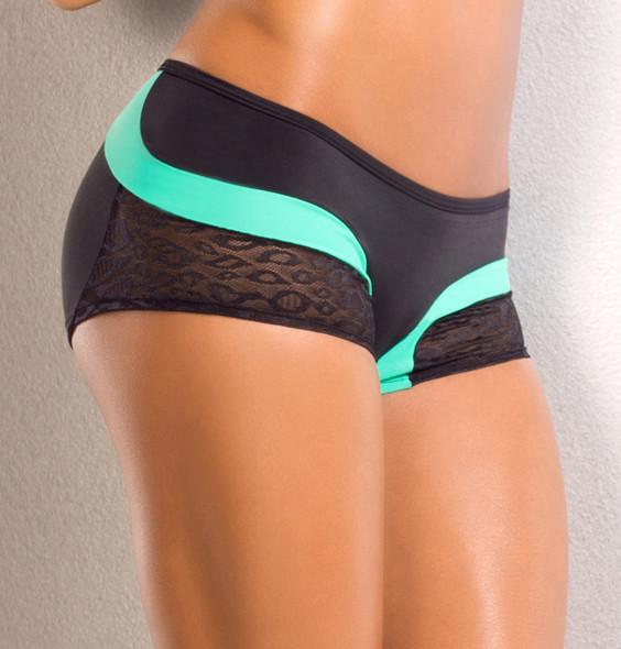 Dancer Lace trim Front Scrunch Back Short