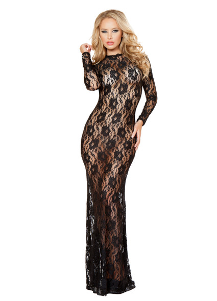LI129, Lace Long Dress