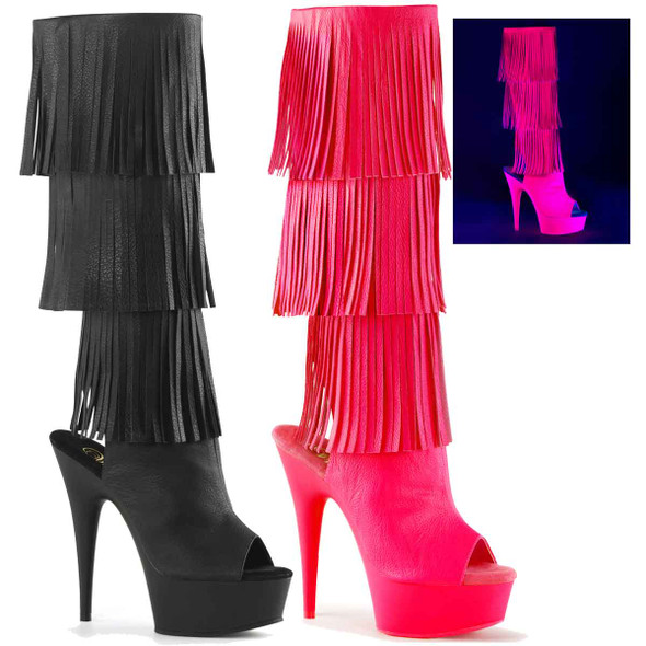 Exotic Dancer Boots | Fringe Knee High Delight-2019-3