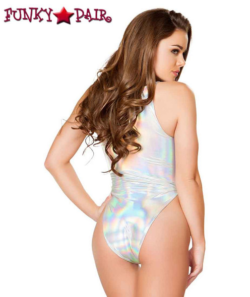 J. Valentine | FF630, Rave Lace-up Bodysuit back view