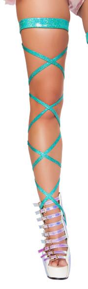 R- 3322, Rave Shimmer Garter Leg Strap