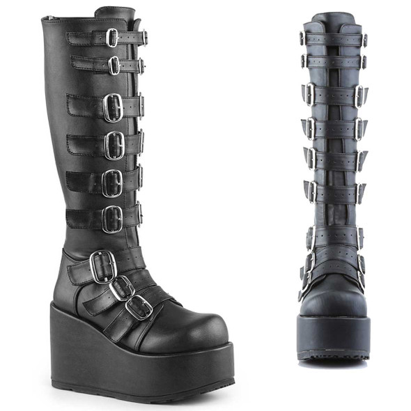 CONCORD-108, Goth Punk Lolita Buckled Platform By Demonia