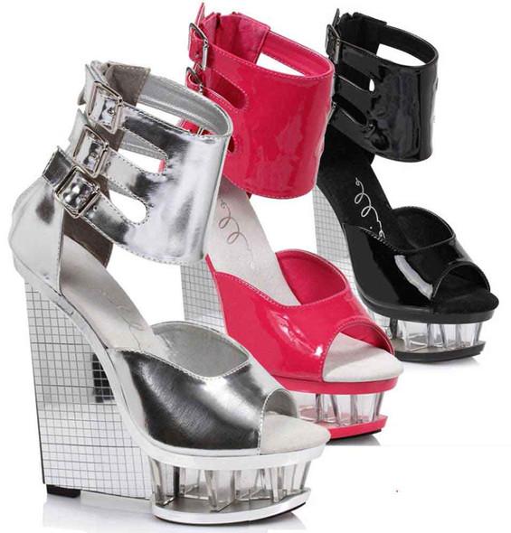 "610-Mira 6"" Wedge Ankle Strap Sandal  Ellie Shoes"