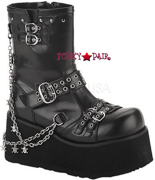 CLASH-430, Clash-430, goth platform boots with chain Women gothic boots