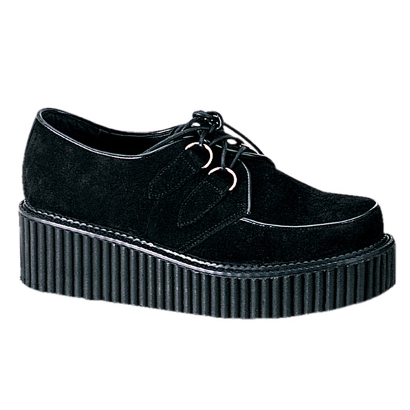 Demonia | Women Black Suede Creeper-101 Shoes