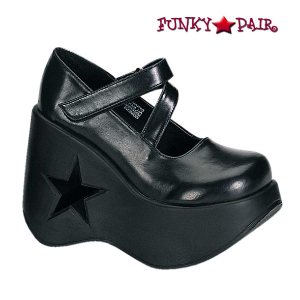 Demonia Shoes | Dynamite-03, Star Shoes Platform Maryjane