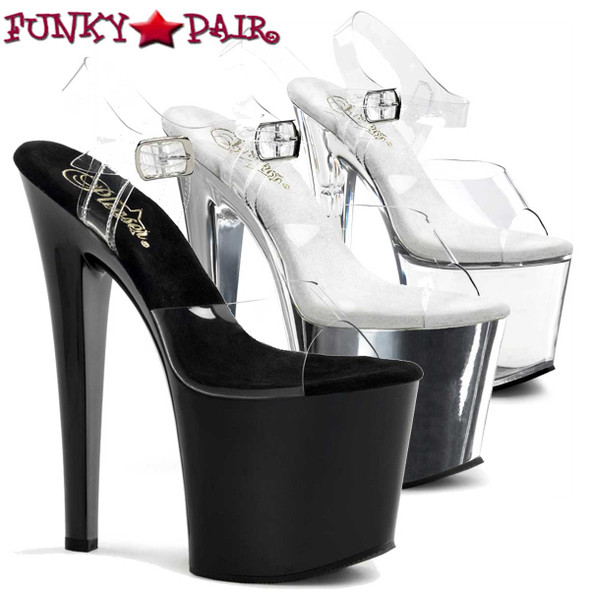 Pleaser Shoes | TABOO-708, 7.5 Inch Heel Ankle Straps Platform Shoes