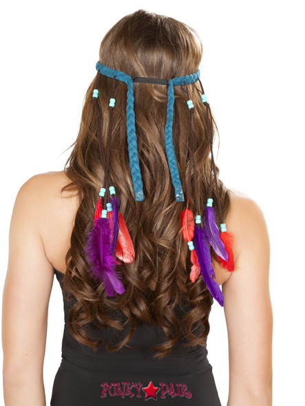 H4725, Braided Turquoise Headband