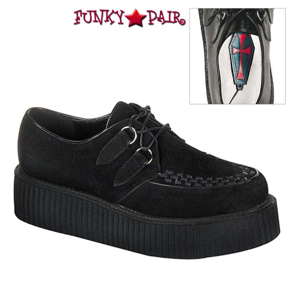 Demonia | Men Creeper-402S, Basic Suede Shoes