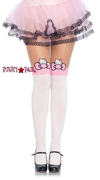 HK7955, Hello Kitty Character Bow Pantyhose
