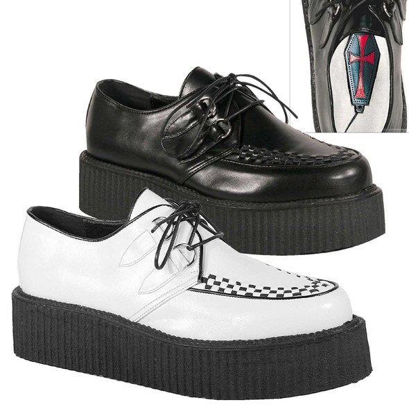 Men Gothic Shoes V-Creeper-502 Demonia