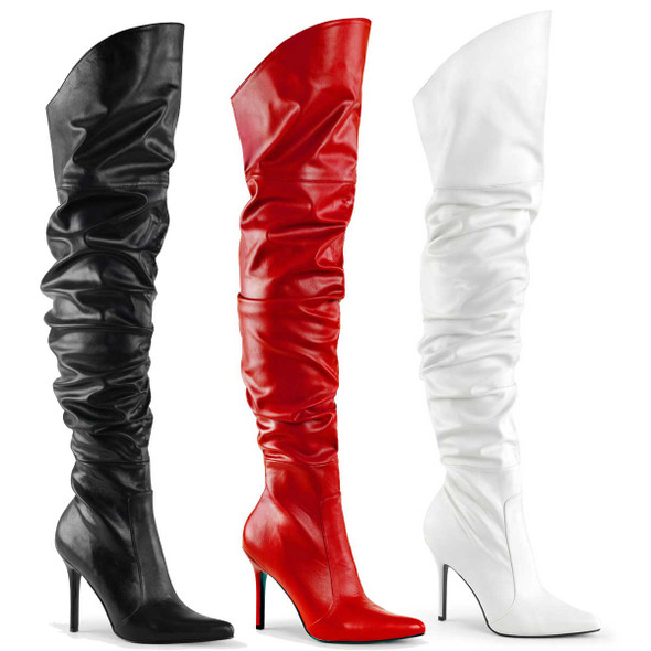 Scrunch Thigh High Boots | Pleaser Classique-3011