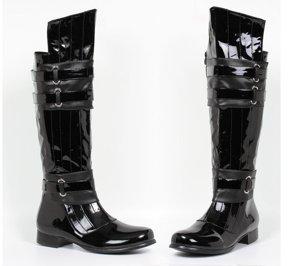 1 inch menn knee high boots with straps