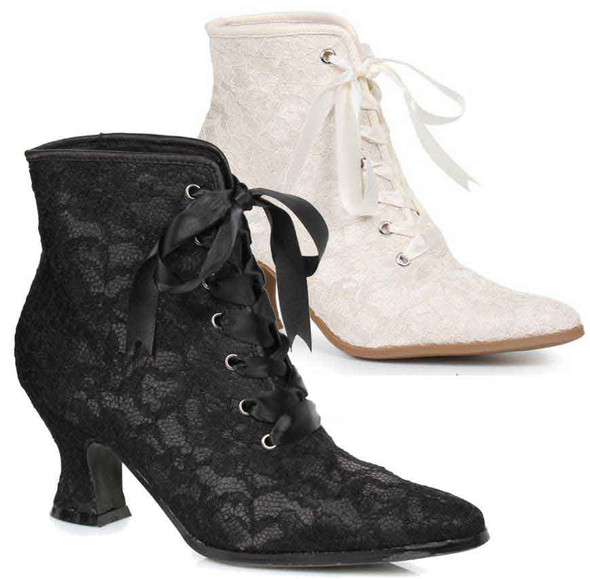 "2.5"" Lace Ankle Boots 253-Elizabeth Ellie shoes"